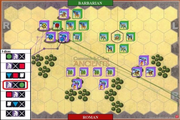 06. Attack continues, with Cavalry defeating Medium Infantry.