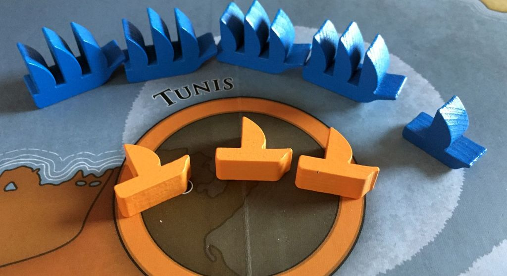 ...and Tunis! All are dealt with but with great difficulty.