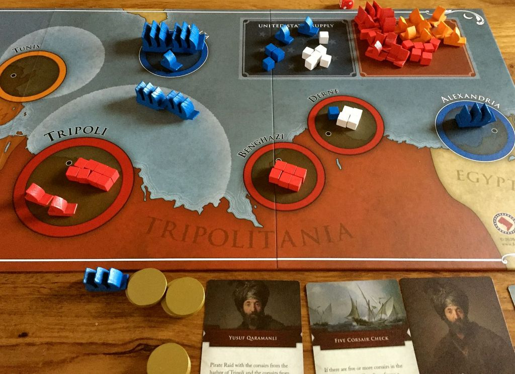 End of 1806 - a victory for Americans - in last attack they destroyed the corsairs frigate. Boys had a lot of fun from pirates game!
