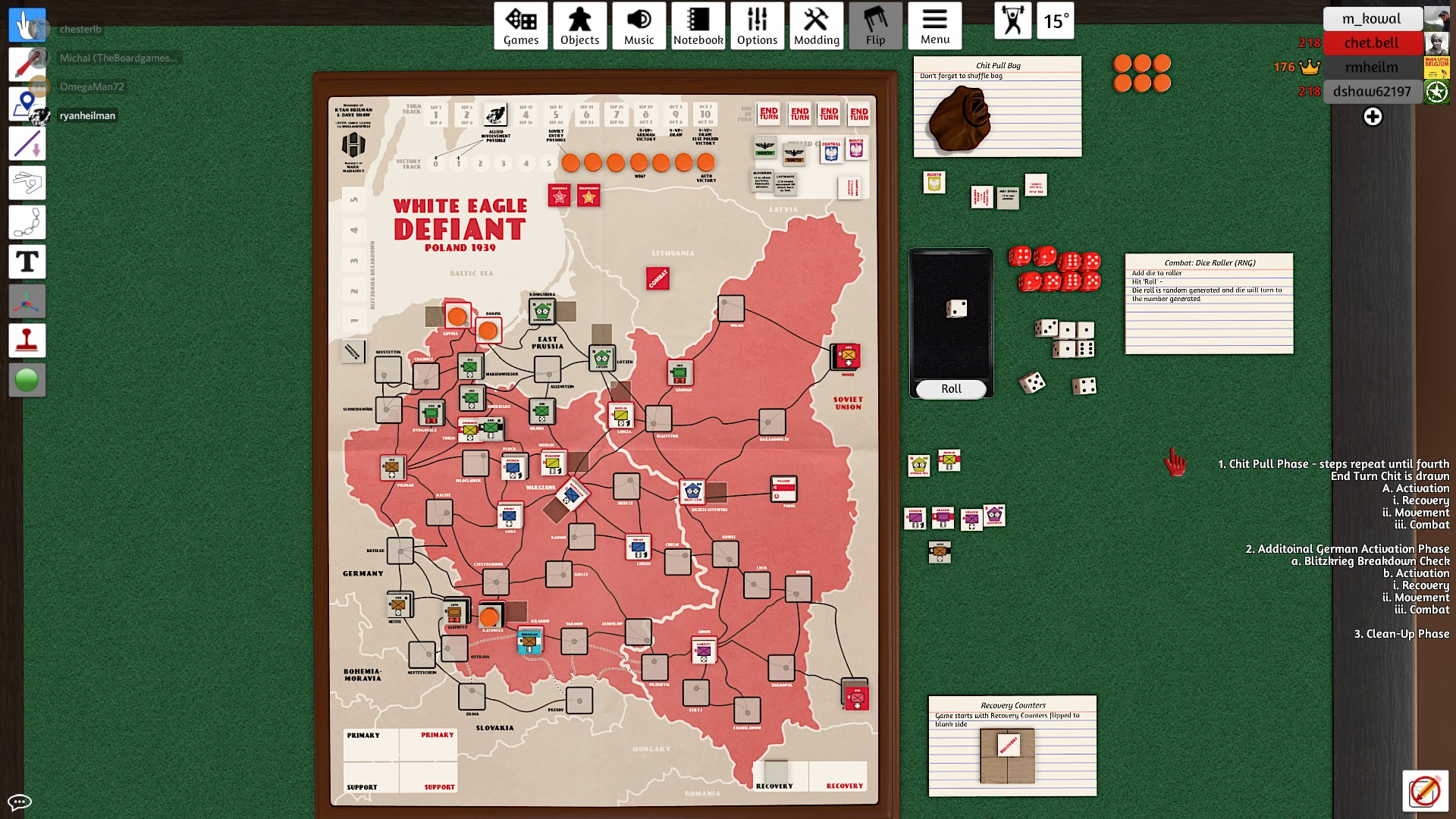 End of Turn 3; 5 VPs for German side - one more will allow USSR entry.