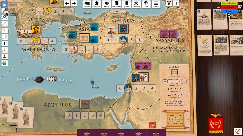 Marek (blue) had tons of problems with Sassanids from the start. But the Goths also arrived!