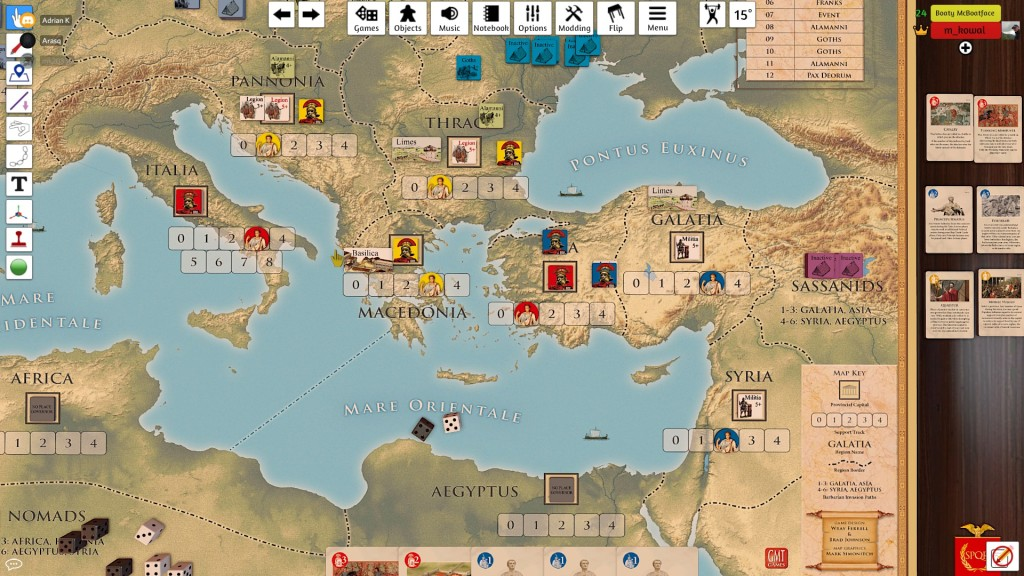 I tried to move to Asia then but two-pronged attack from Marek almost wiped me out!