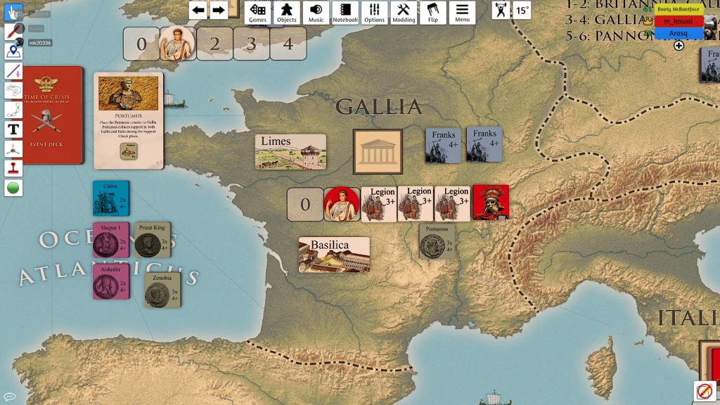 And then Franks and Postumus attacked my Gallic capital - crisis everywhere! But they to were repelled!
