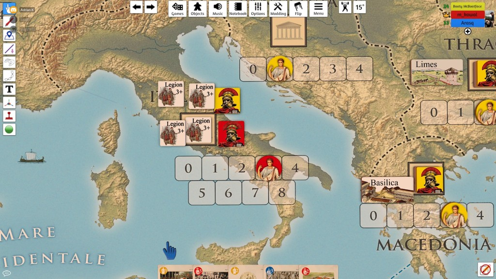Adrian was relentless. His second attempt was at my forces in Italy. Fortunately, they survived.